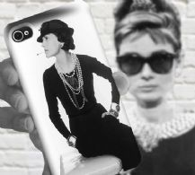 "Fashion Designer, Gabrielle ""Coco"" Bonheur Chanel - Mobile Accessories - iPhone 4 or 5 or 4s or Galaxy S3 or S4 -   Full Wrap Image 3D Case"
